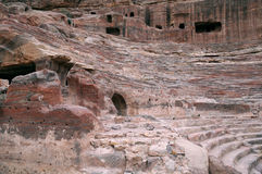 Part of Theater at Petra Royalty Free Stock Image