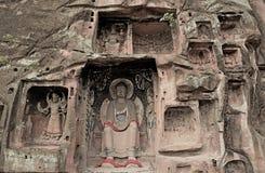 A part of  Thousand Buddha cliff Stock Photos