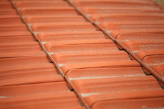 Part of the tiled roof. Stock Image