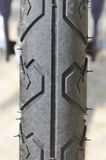 Part of the tire on a bicycle. Royalty Free Stock Photography