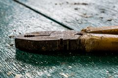 Part of the tools in the yard and on the construction site. royalty free stock photography