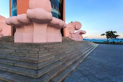 Part of Tower Lotus in Nha Trang Vietnam Royalty Free Stock Photos