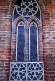 Part of Town Hall wall in Torun, Poland.  stock photos