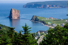 Part of Town of Percé/City Stock Images