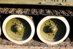 Part of tracked vehicle (Panzer) Stock Photo