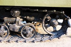 Part of tracked vehicle (Panzer) Royalty Free Stock Images