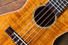 Part of traditional acoustic guitar Royalty Free Stock Photography