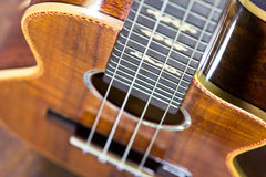Part of traditional acoustic guitar Stock Image