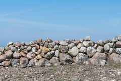 Part of a traditional stone wall Royalty Free Stock Photos