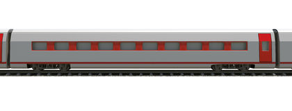 Part of train on white Stock Image