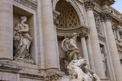 Part of Trevi Fountain in Rome, Italy Royalty Free Stock Photo