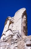 A part of the trophy of Alpes and blue sky royalty free stock image