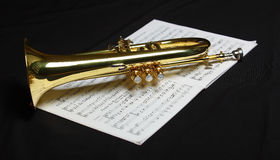 Part of trumpet Stock Photo