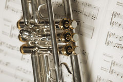 Part of trumpet stock photos