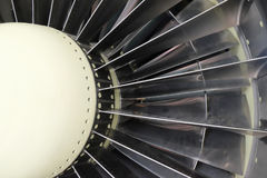 Part of the turbojet engine. Front part of the turbojet engine closeup Stock Image