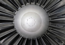 Part of the turbojet engine. Front part of the turbojet engine closeup Royalty Free Stock Photos