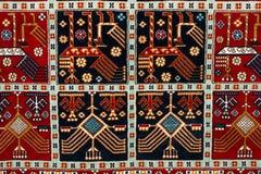 The part of turkish-azerbaijan  carpet Royalty Free Stock Photography