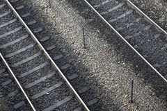 Diagonal Railroad Royalty Free Stock Photos