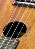 Part of ukulele guitar Stock Photography