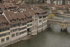 Part of Untertorbrücke and old city of Bern. Switzerland. Stock Image