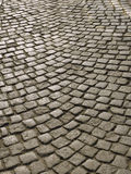 Part of urban square with cobblestone Royalty Free Stock Image