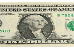 Part 1 US dollar banknote with a portrait of Washington Stock Photos