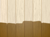 Part varnished wood Stock Photography