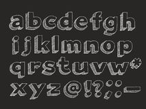 Vector hand drawn alphabet lowercase Royalty Free Stock Photography