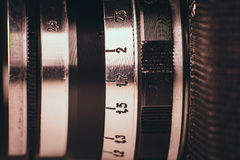 Part of a very old film camera Royalty Free Stock Photos