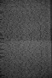 Part of Vietnam Memorial Wall with the names of servicemen killed or missing in action Royalty Free Stock Photos