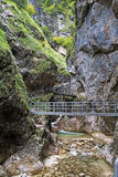 Part view of Almbachklamm hiking,trail Royalty Free Stock Photo