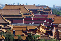 A part view of forbidden city Stock Image