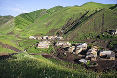 Part of village in mountains Stock Images