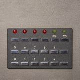 Part of vintage analog recorder. Button control panel Stock Photography