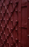 Part of a vintage brown door  made of metal Royalty Free Stock Images