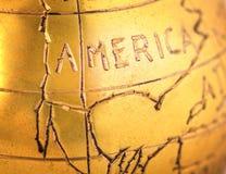 Part of vintage metal globe Royalty Free Stock Image