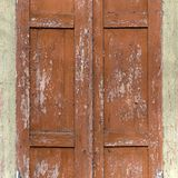 Part of vintage old wood closed window Royalty Free Stock Photos
