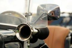 Part of vintage sport car. Stock Photos