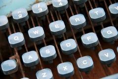 VINTAGE TYPEWRITER. A part of vintage typewriter Stock Images