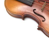 Part of vintage violin Stock Images