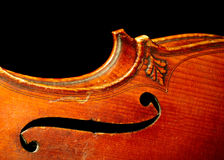 Part of vintage violin Stock Photo