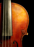 Part of vintage violin Royalty Free Stock Photos