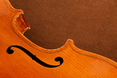 Part of a violin Royalty Free Stock Photo