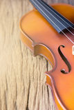 Part of violin Royalty Free Stock Image