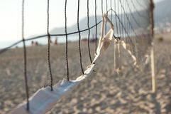 Part of the volleyball net. Sport background Royalty Free Stock Photo