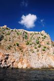 Part of wall (Alanya castle) Stock Image