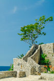 Part of wall of citadel, Budva Royalty Free Stock Photo