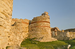 Part of the wall in the city of Nesebar Stock Photos