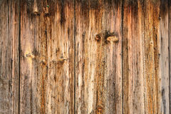 Part of the wall of the old rough wood texture Stock Photography