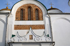 Part of the wall of Transfiguration cathedral, with ancient bric Royalty Free Stock Images